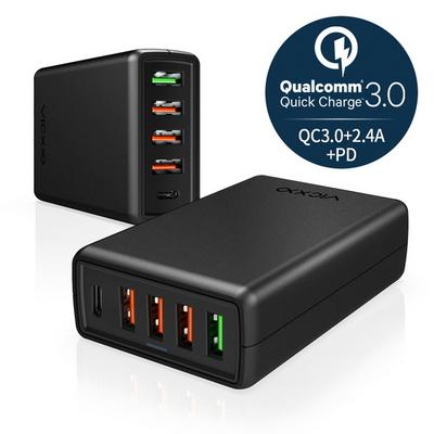 5포트 퀄컴 퀵차지 3.0 USB PD 핸드폰 고속 멀티 충전기 M1