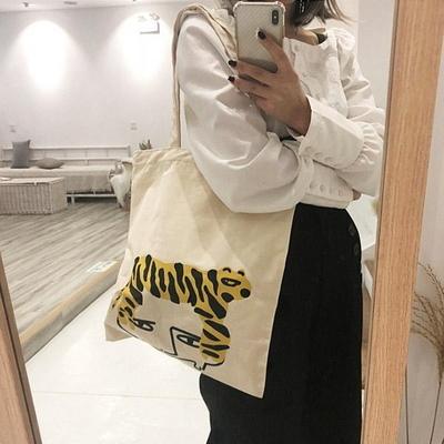 타이거 데일리 에코백 캔버스백 가벼운가방