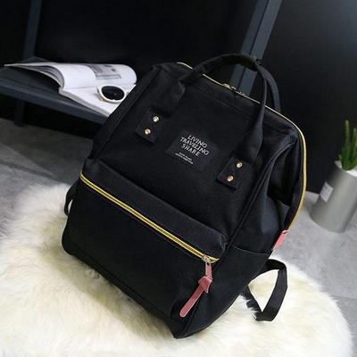 엘슨 여성 백팩 여행가방 학생가방 캔버스 수납가방