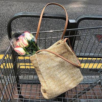 뚜아 여성 라탄백 왕골가방 여름가방 숄더백