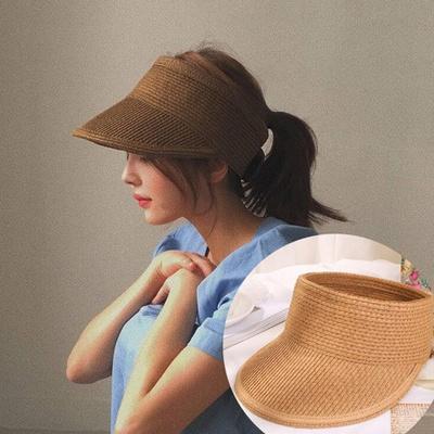 푸치 여성 라탄모자 밀짚모자 썬캡