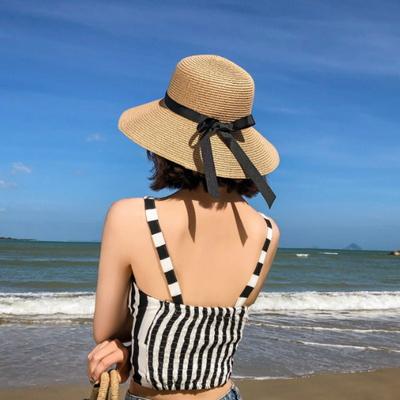 라운지 와이어햇 여성 밀짚모자 여름모자