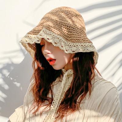 이브 레이스 와이어햇 여성 밀짚모자 여름모자