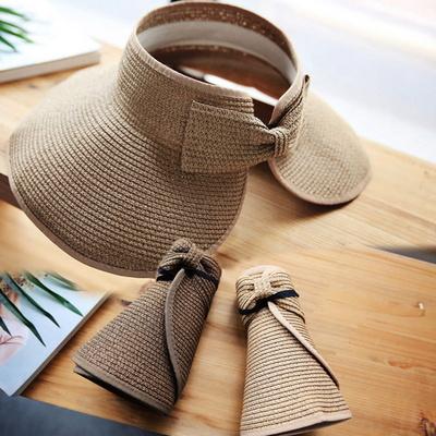 플로피 여성 밀짚모자 돌돌이 챙모자 자외선차단 여름모자