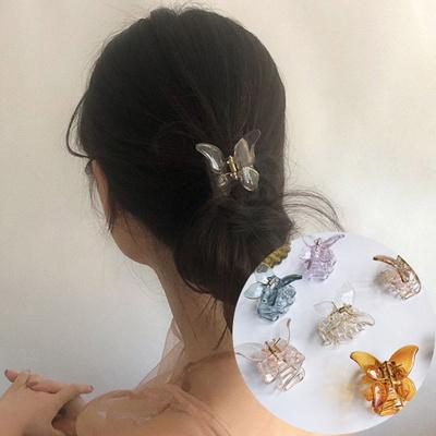 욜리 여성 나비 헤어 집게핀 4개세트