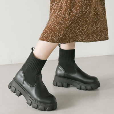 JM-Q7_1 키높이 여성 니트 삭스 부츠 신발 5cm