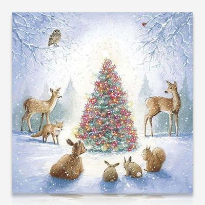 숲속의 크리스마스 트리 DIY 보석십자수 십자수 비즈세트