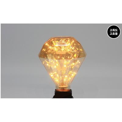 LED에디슨램프 눈꽃 3w 다이아몬드