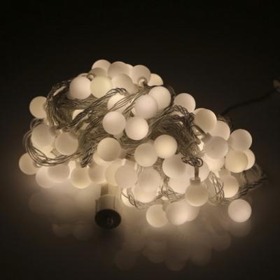 LED볼앵두 100구 투명선 전구색 앵두트리 장식조명