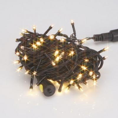 LED 트리구 100구 연결형 흑선 전구색 장식 트리조명