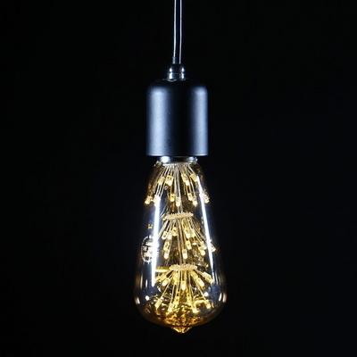 LED눈꽃 에디슨램프 동성 ST64 전구색 2.5W