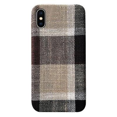 아이폰11프로 체크패턴 패브릭 심플 젤리 케이스 P193