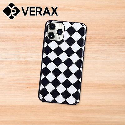 갤럭시S10 블랙 화이트 패턴 슬림 하드 케이스 P466