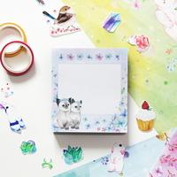 떡메모지 - 고양이플라워(블루)