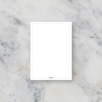 무지 메모지 라운드형 기본 메모장