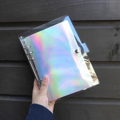 A5 투명 6공 다이어리 홀로그램