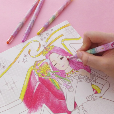 시크릿쥬쥬 샤이닝 색연필(디자인 랜덤발송)