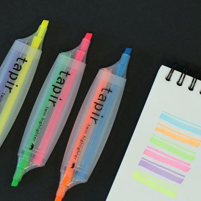 트윈 하이라이터 형광펜 3 color SET