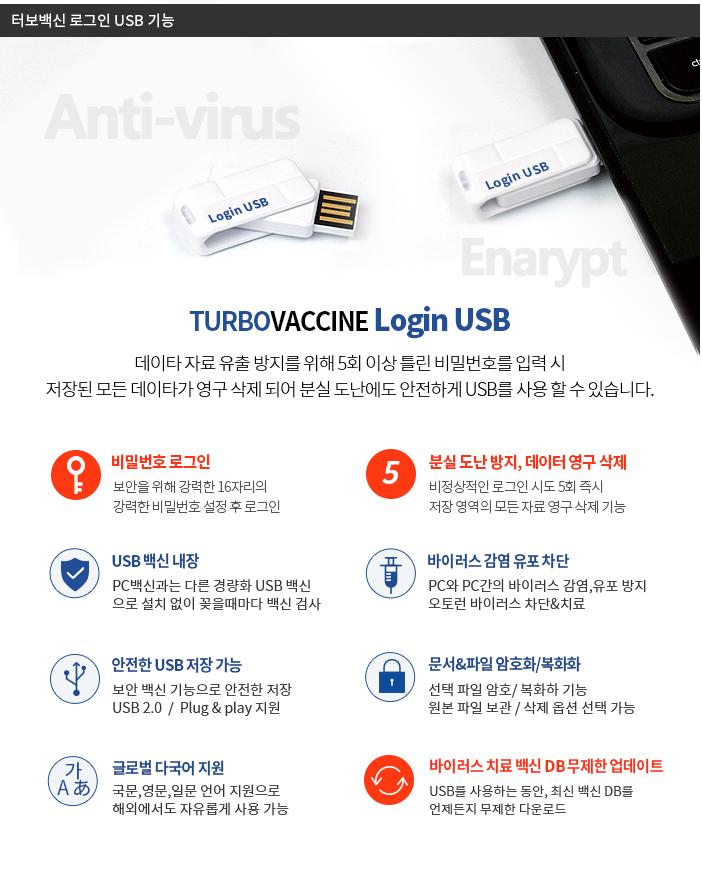 터보백신 로그인USB 32GB 스윙형 - 패스워드 로그인 기능 추가 - 터보백신 USB, 79,000원, 일반형 USB 메모리, USB 32G이상