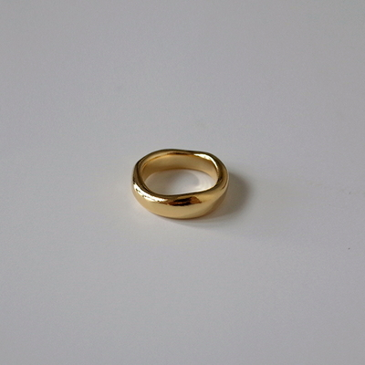 Gold Puddle Ring