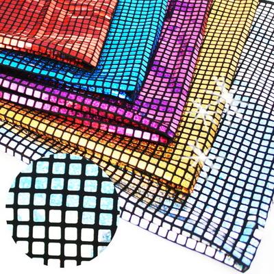 홀로그램사각 반짝이원단 약70cm (5칼라택1)