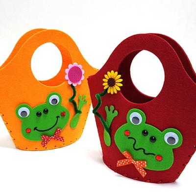 만들기 개구리 펠트가방 (주황 빨강 중 선택)