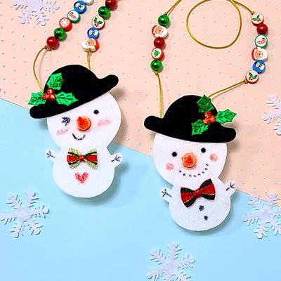 [탑키드] 만들기 크리스마스 눈사람 LED 목걸이 (3인용)