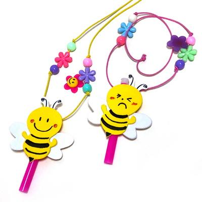 [탑키드] 만들기 꿀벌 목걸이 피리 (4인용)