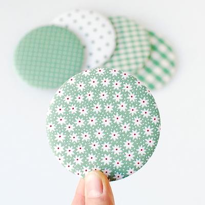 리코코 패브릭 미니손거울 - 006 (green)