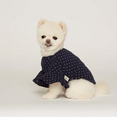 강아지 스몰 도트 프릴 티셔츠