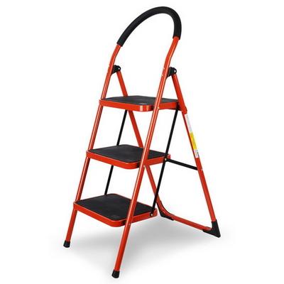 접이식 계단형 사다리 2단 3단 4단 (레드) 하중90kg