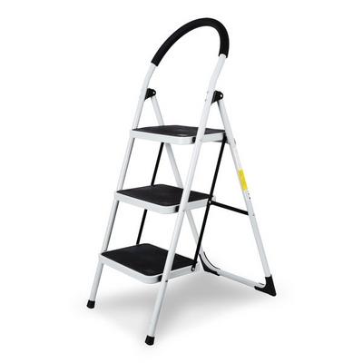 접이식 사다리 계단형 (화이트) 하중150kg