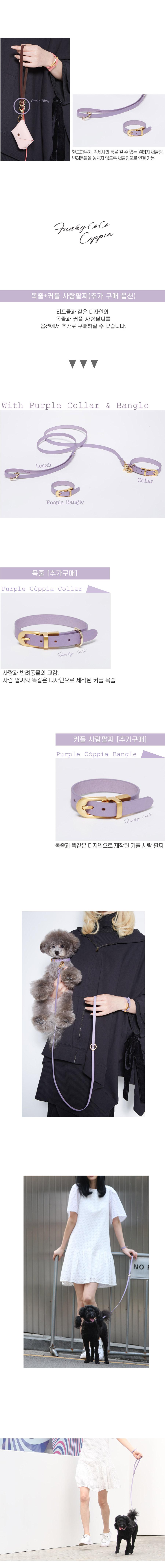 퍼플 코피아 리드줄 - 펑키코코, 38,700원, 이동장/리드줄/야외용품, 리드줄