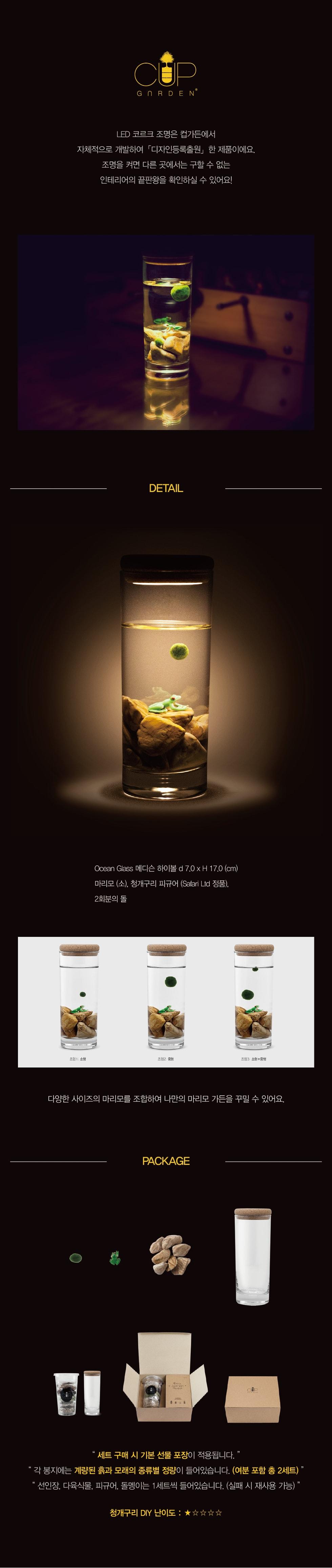 빛가든_청개구리 마리모 - 컵가든, 39,200원, 허브/다육/선인장, 수경식물/에어플란트