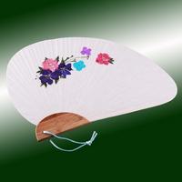 압화 부채만들기세트(조개모양) 락스퍼꽃디자인