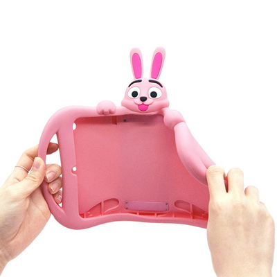 아이패드에어2.프로9.7 태블릿 어린이안전 토끼 실리콘케이스