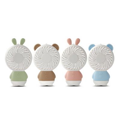 레인보우 곰 토끼 LED 미니선풍기 충전식 핸디선풍기