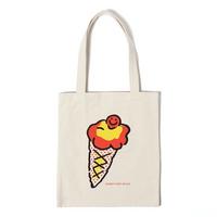 아이스크림 에코백 - 아이보리