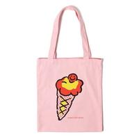 아이스크림 에코백 - 핑크