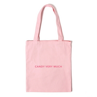 로고 에코백 - 핑크