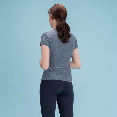 여성 스포츠 베이직 티셔츠 네이비