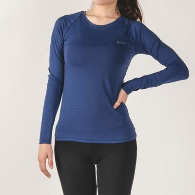 키라 매쉬 레귤러 긴팔 티셔츠 블루
