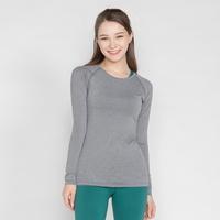키라 매쉬 레귤러 긴팔 티셔츠 그레이