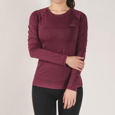 키라 매쉬 레귤러 긴팔 티셔츠 와인