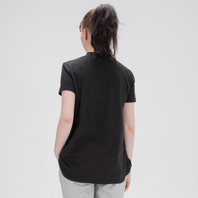 에이라인 반목폴라 반팔 티셔츠 블랙
