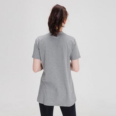 에이라인 반목폴라 반팔 티셔츠 그레이