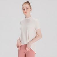 에이라인 반목폴라 반팔 티셔츠 아이보리