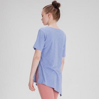 모달 슬러브 사이드 슬릿 티셔츠 소라
