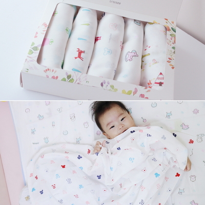 아기 천기저귀 5장 속싸개 목욕수건