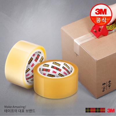 스카치 3615 포장용 테이프(투명) + 디스펜서 증정